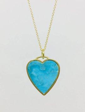 Jennifer Meyer Jennifer Meyer 18k Turquoise Inlay Necklace