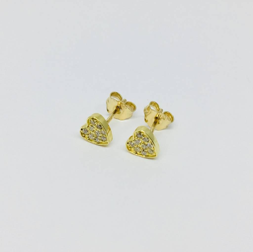 Jennifer Meyer Jennifer Meyer 18k Diamond Heart Earrings