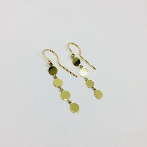 Jennifer Meyer Jennifer Meyer 18k Disc Drop Earrings