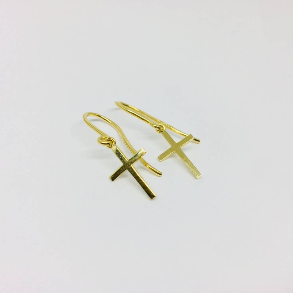 Jennifer Meyer Jennifer Meyer 18k Cross Earrings