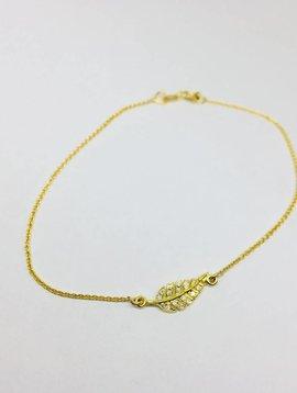 Jennifer Meyer Jennifer Meyer 18k and Diamond Leaf Bracelet