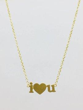 Jennifer Meyer Jennifer Meyer 18k i love u Necklace