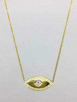 Jennifer Meyer Jennifer Meyer 18k and Diamond Evil Eye Necklace