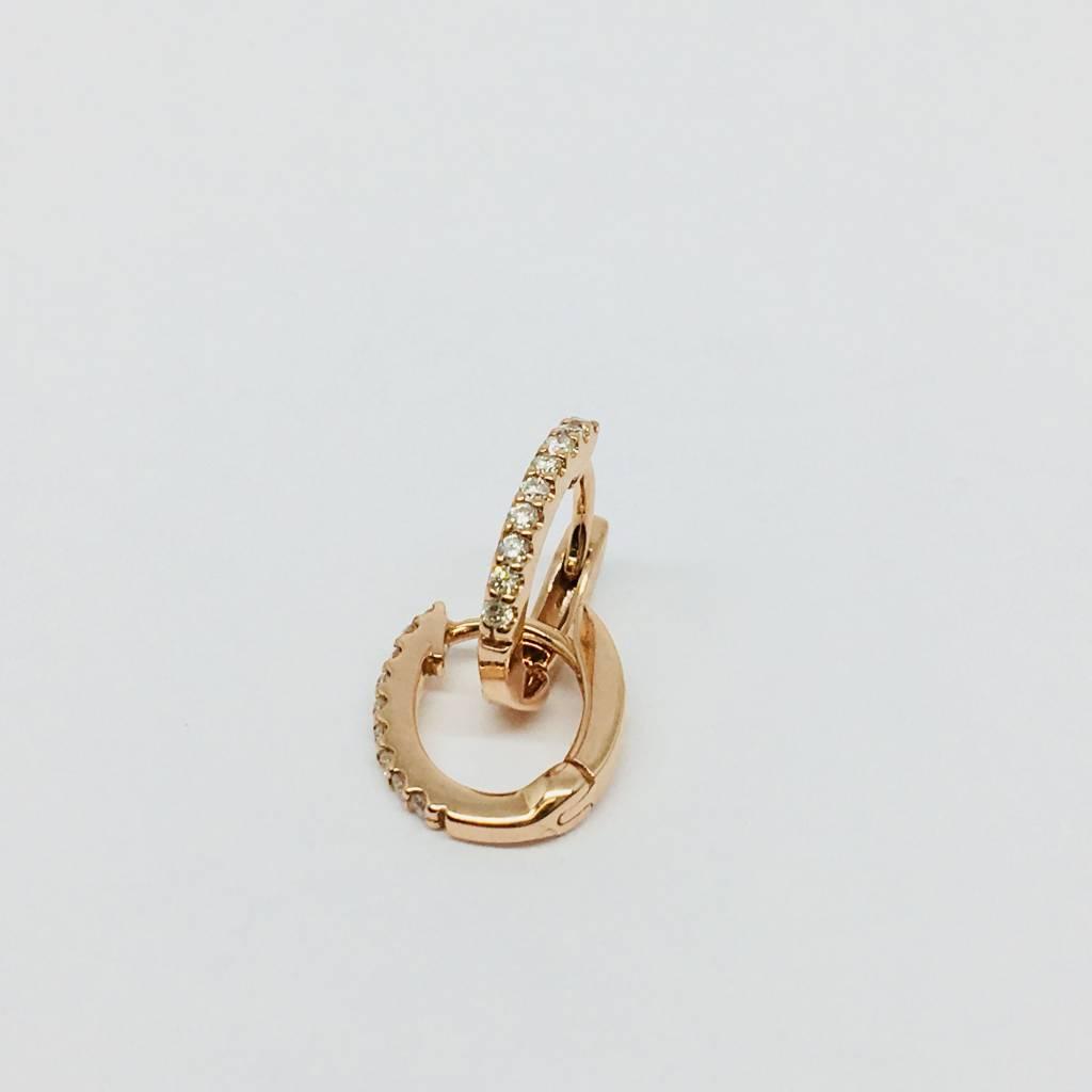 Dana Rebecca Rose Gold Huggie Earrings