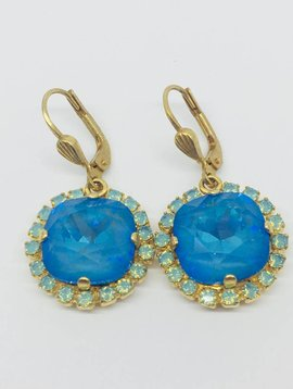 La Vie Parisienne Blue Crystal Earrings