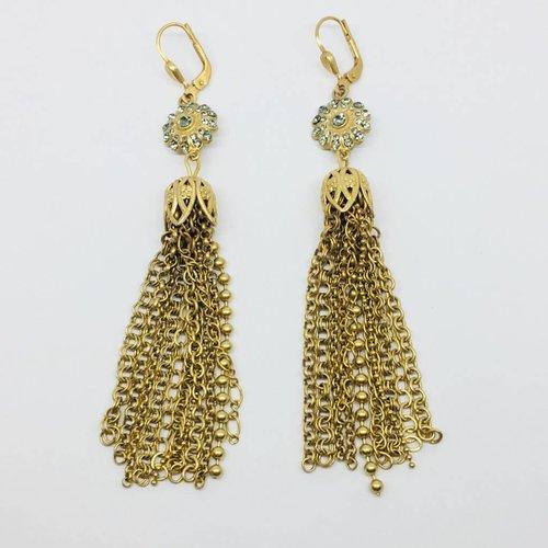 La Vie Parisienne Chain Chandelier Earrings