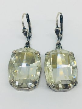 La Vie Parisienne Champagne Crystal Earrings
