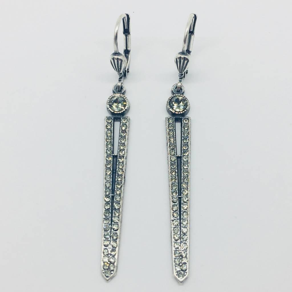 La Vie Parisienne Oxidized Drop Earrings