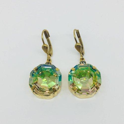 La Vie Parisienne Large Crystal Earrings