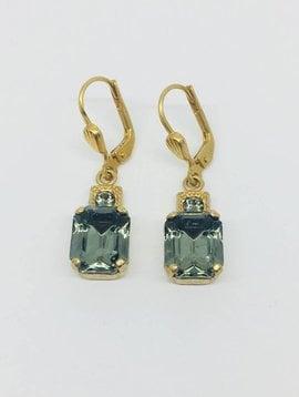 La Vie Parisienne Rectangle Crystal Drop Earrings