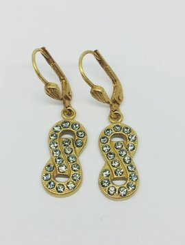 La Vie Parisienne Infinity Drop Earrings