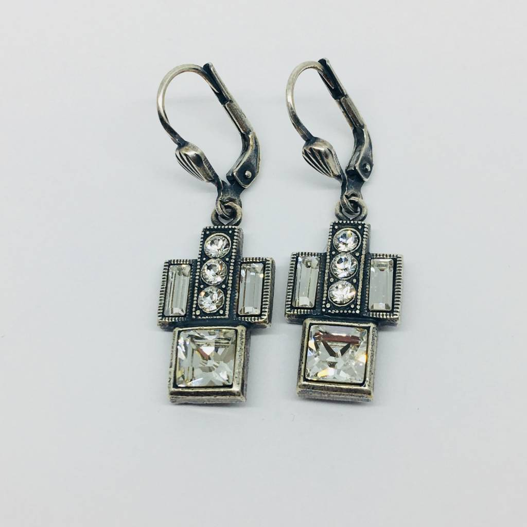 La Vie Parisienne Crystal art deco earrings