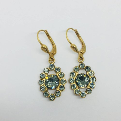 La Vie Parisienne Pyrite Swarovski Crystal Earrings