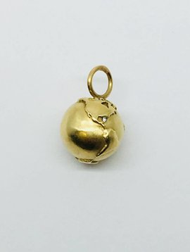 Heather Moore Gold Globe Charm