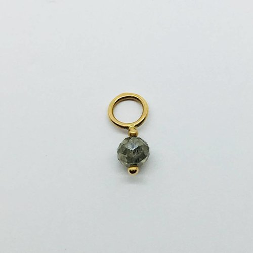 Heather Moore Grey Rondelle Gemstone Charm