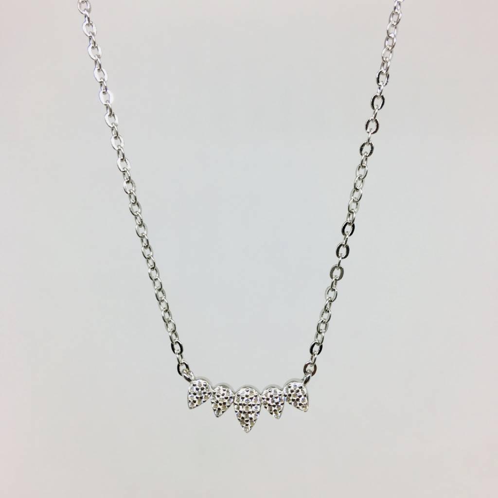 Rachael Ryen Pave Pear Necklace