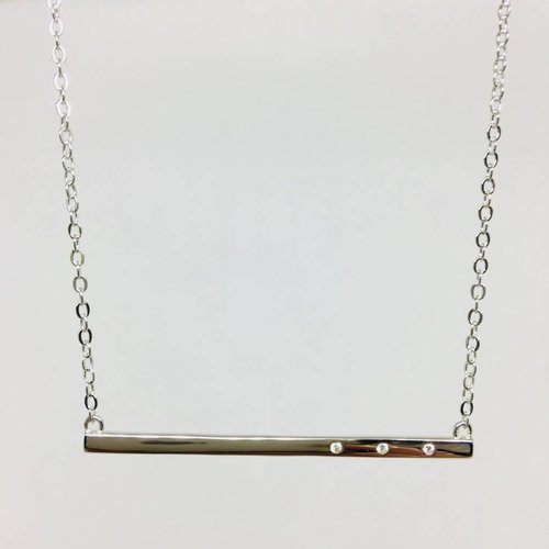 Rachael Ryen Long Bar Necklace
