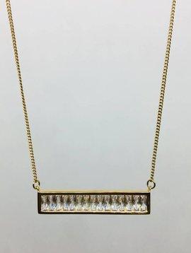 Rachael Ryen Baguette Bar Necklace