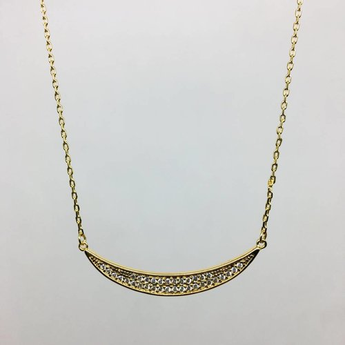 Rachael Ryen Pave Curve Necklace