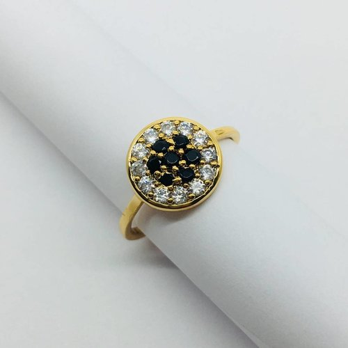 Rachael Ryen Black and White Crystal Ring