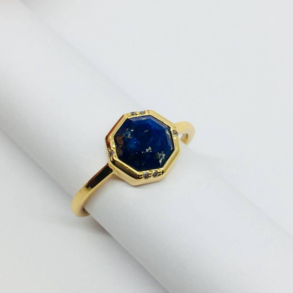 Rachael Ryen Octagon Gem Ring