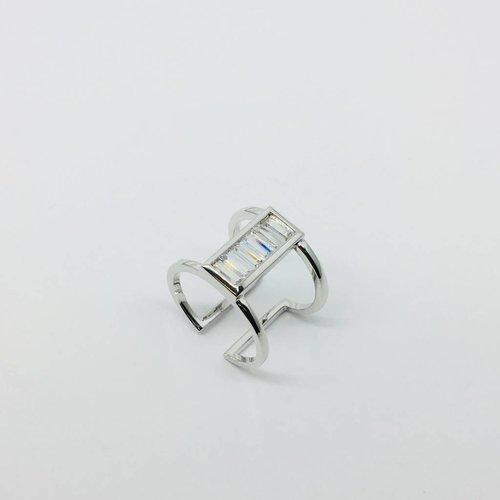 Rachael Ryen Vertical Baguette Open Ring