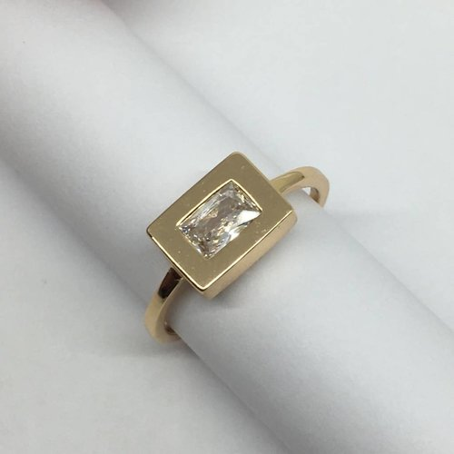 Rachael Ryen Rectangle CZ Ring