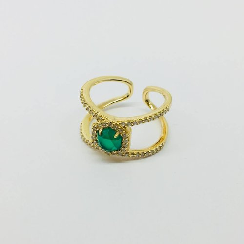 Rachael Ryen Green Gem Open Ring