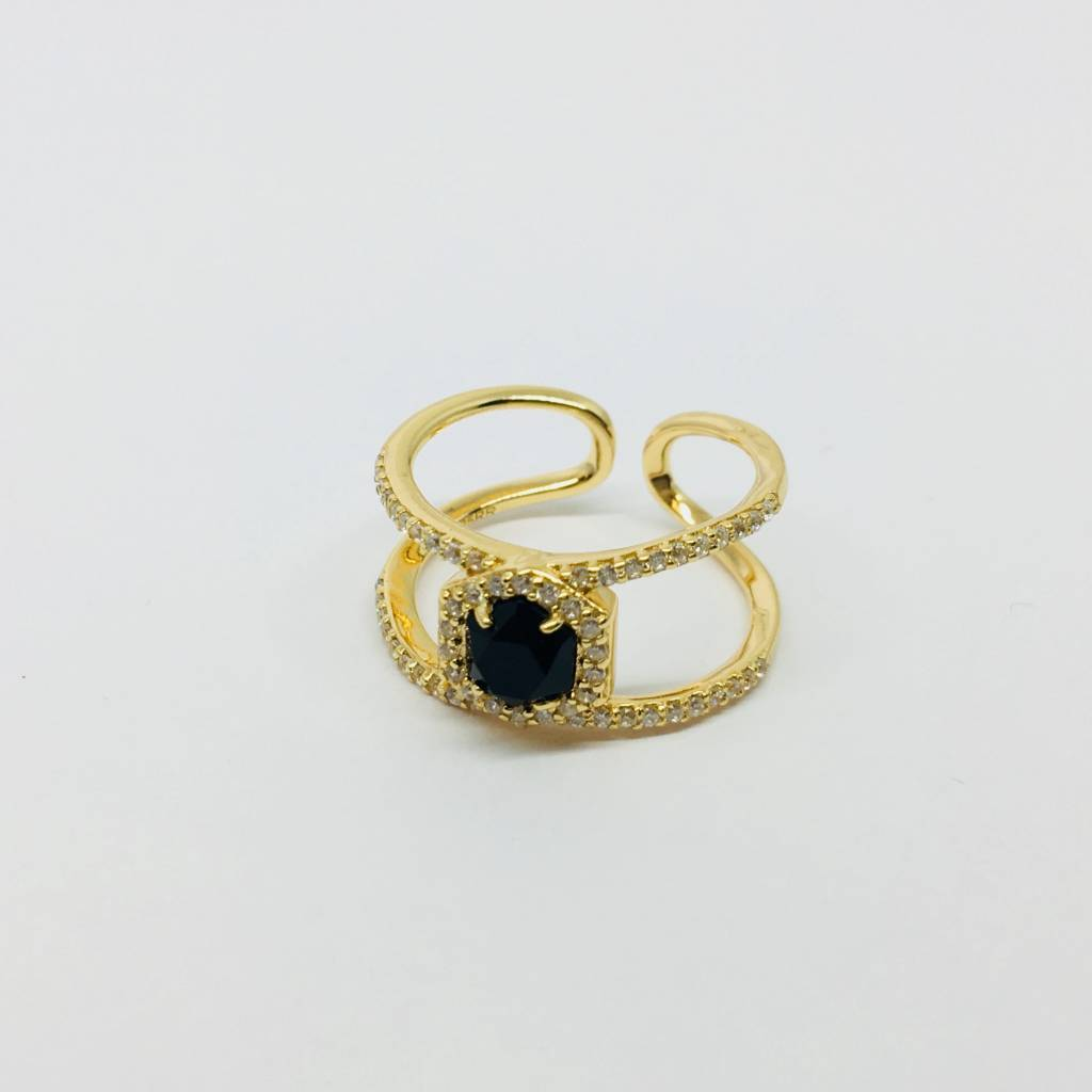 Rachael Ryen Open Black Onyx Ring