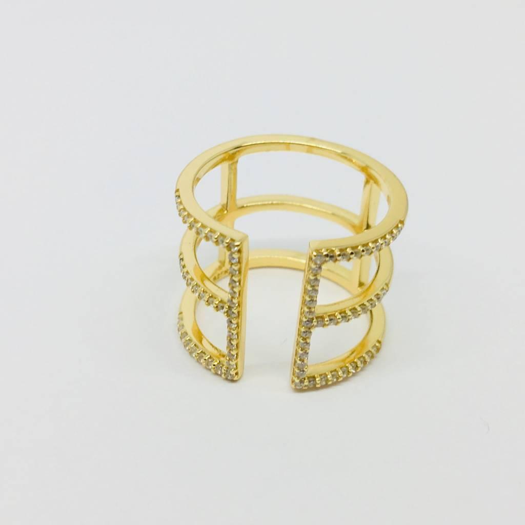 Rachael Ryen Open Bar Ring Gold