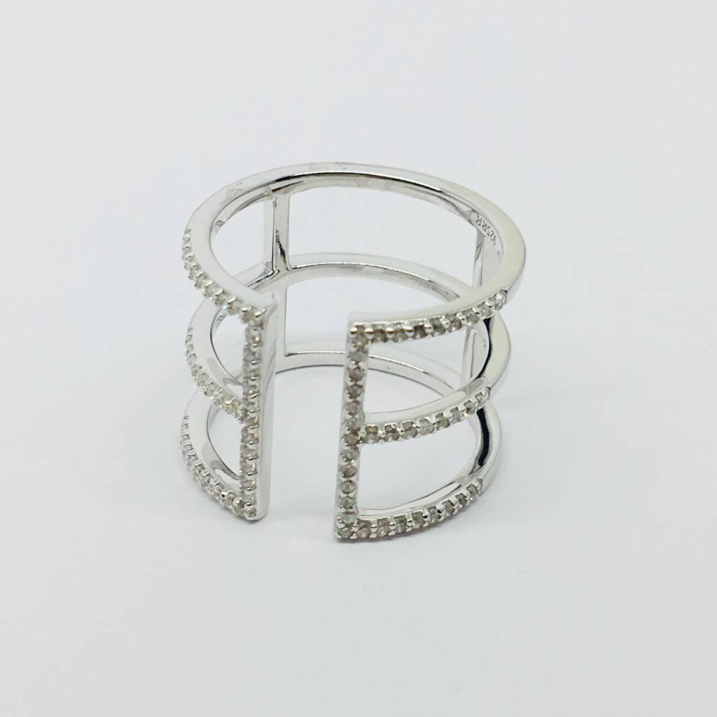 Rachael Ryen Open Bar Ring Silver