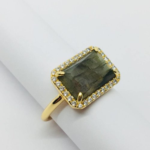 Rachael Ryen Rectangle Quartz Ring