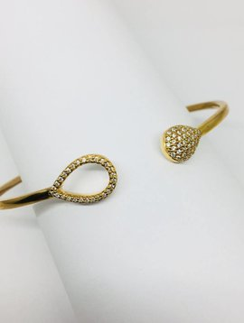 Rachael Ryen Open Pave Teardrop Bracelet