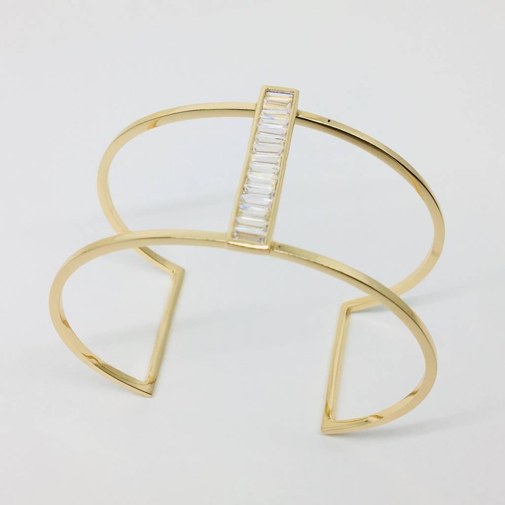 Rachael Ryen Baguette Open Bracelet