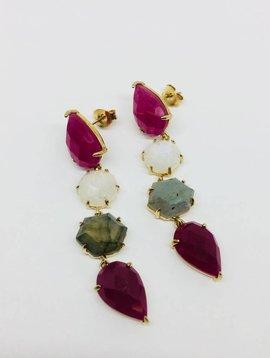 Rachael Ryen Multi Colored Gem Drop Earrings