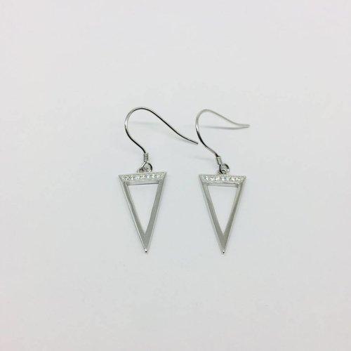 Rachael Ryen Open Triangle Earrings