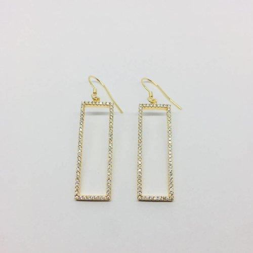 Rachael Ryen Open Rectangle Earrings