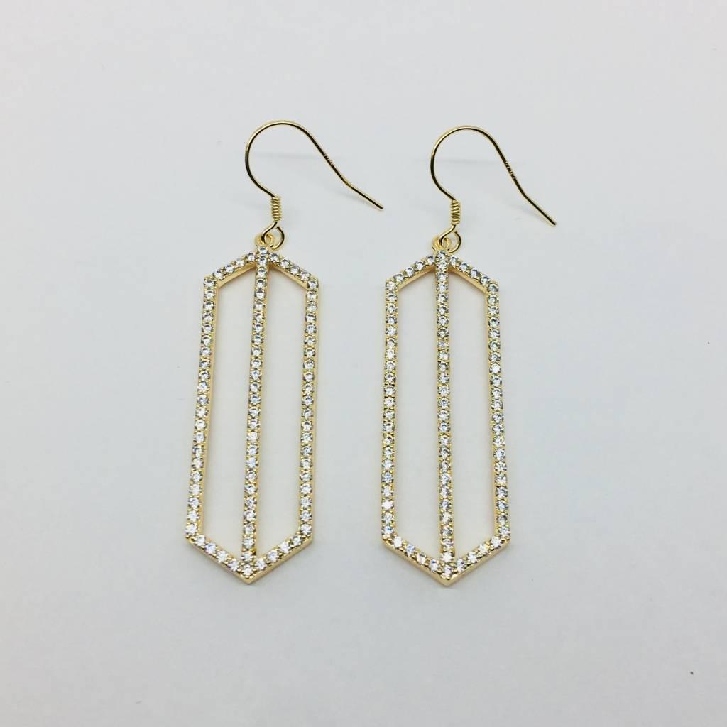 Rachael Ryen Pointed Rectangle Drop Earrings