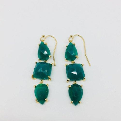 Rachael Ryen Emerald Drop Earings