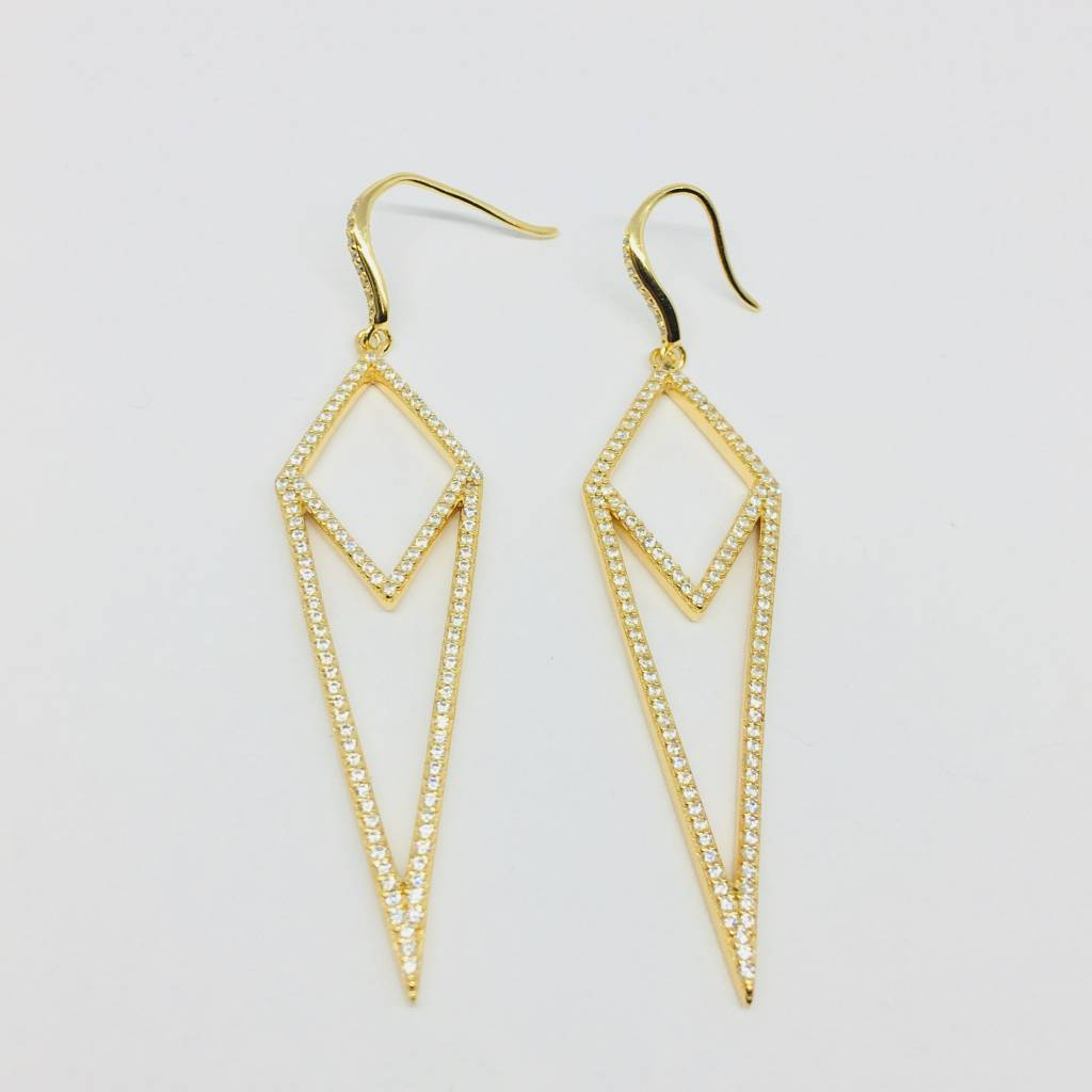 Rachael Ryen Pave Dagger Earrings