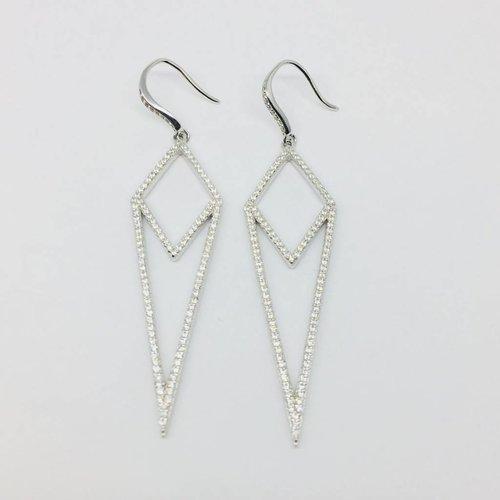 Rachael Ryen Pave Dagger Earrings