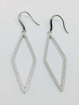 Rachael Ryen Open Diamond Shaped Earrings