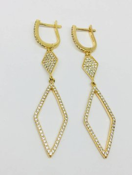Rachael Ryen Gold Pave Triangle Drops