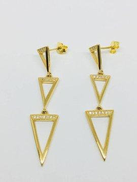 Rachael Ryen Open Triangle Drop Earrings