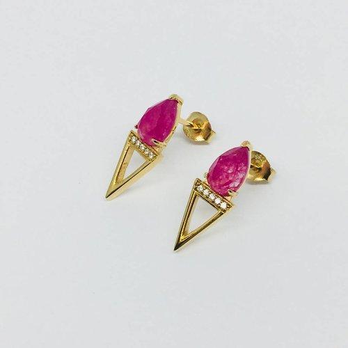 Rachael Ryen Pink Stone Dagger Studs