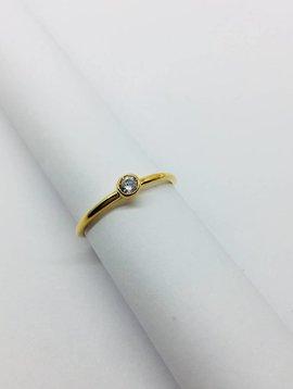 Cloverpost Yellow Gold Large Bezel Ring
