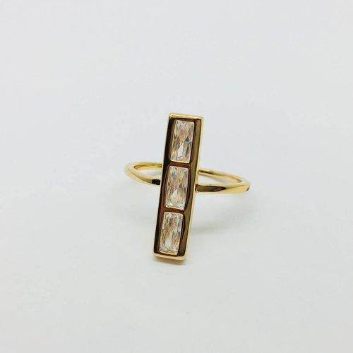 Rachael Ryen Vertical Baguette Ring
