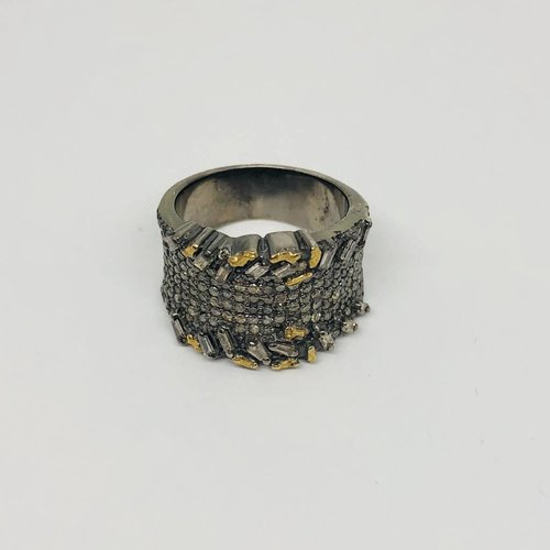Lotasi Baguette and Pave Ring