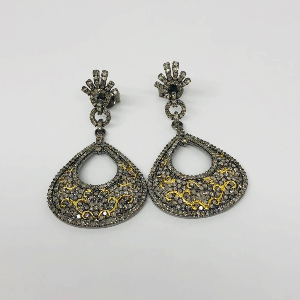 Lotasi Pave Drop Earrings