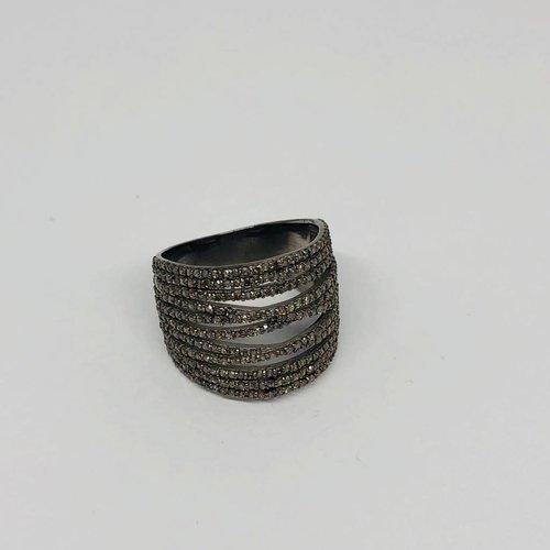 Lotasi Champagne Diamond Pave Ring